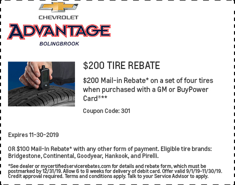 200 Tire Rebate