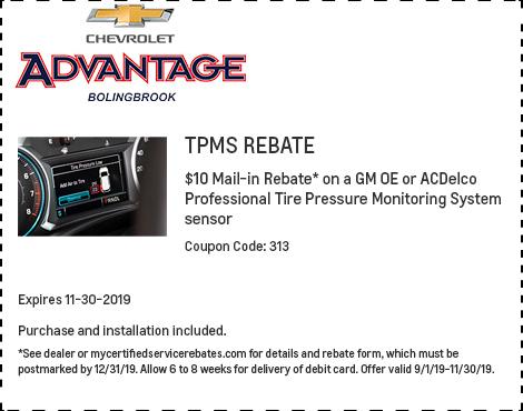 TPMS Rebate